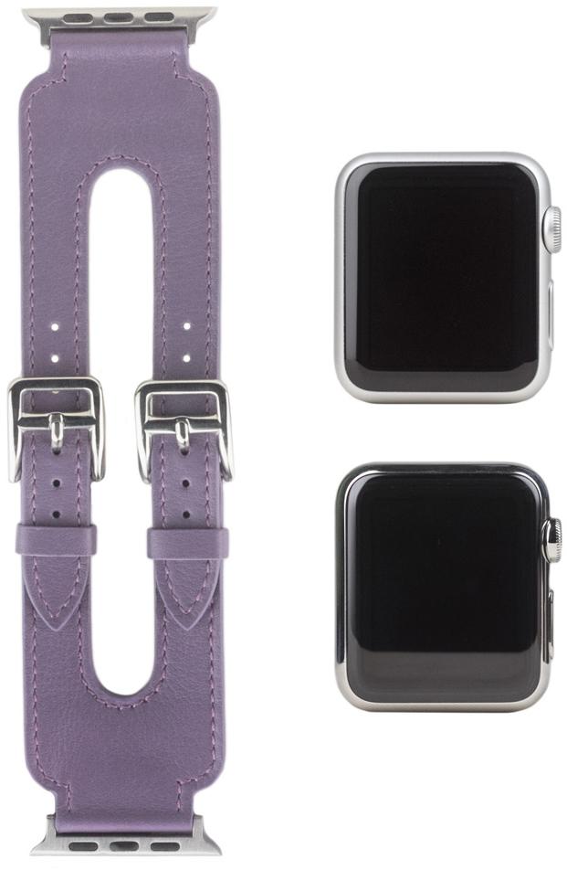 Ремешок для Apple Watch Double Buckle 42мм, теленок, фиолетовый