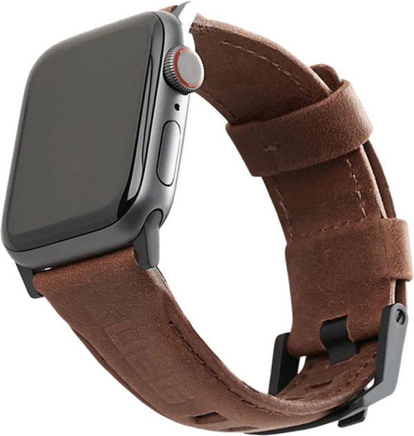 Ремешок для Apple Watch 38/40 мм, кожа, коричневый