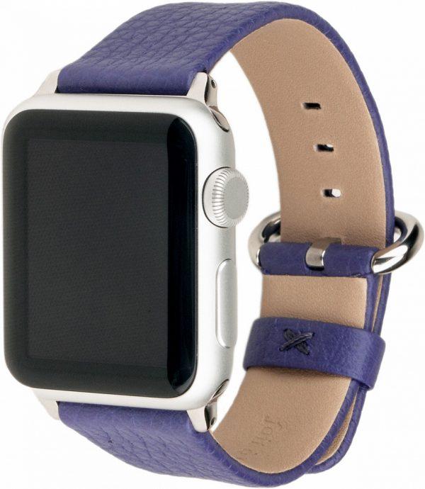 Ремешок для Apple Watch 42/44 мм, теленок, сиреневый