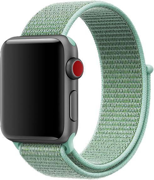 Браслет для Apple Watch 38/40 мм, нейлон, морская волна