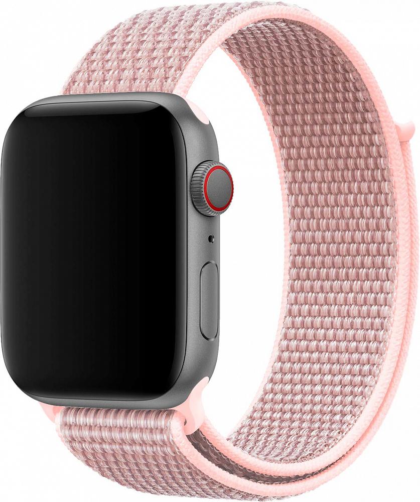 Браслет для Apple Watch 38/40 мм, нейлон, розовый