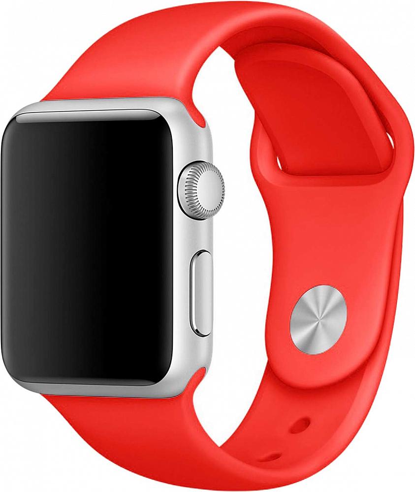 Ремешок для Apple Watch 38мм, силикон, красный
