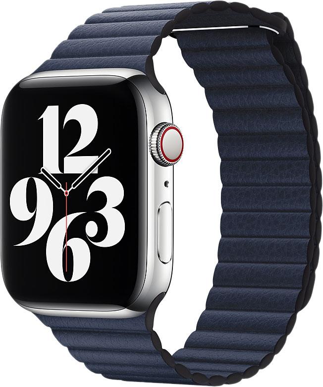 Кожаный ремешок Watch 44 мм, размер M, «синяя бездна»