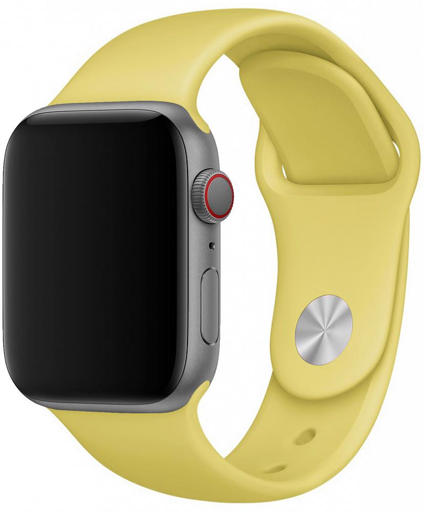 Набор силиконовых ремешков для Apple Watch 38 мм, желтый лимонный