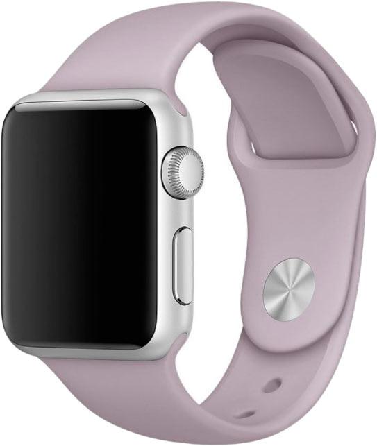 Ремешок для Apple Watch 38/40мм, силикон, светлая лаванда
