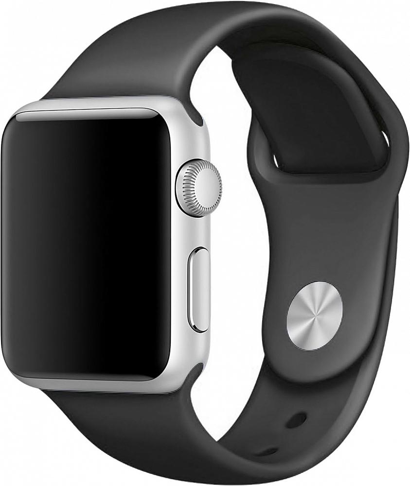 Ремешок для Apple Watch 42мм, силикон, черный