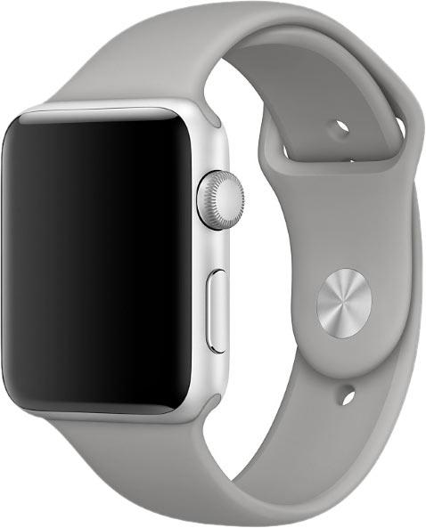 Ремешок для Apple Watch 38/40мм, силикон, серый бетон