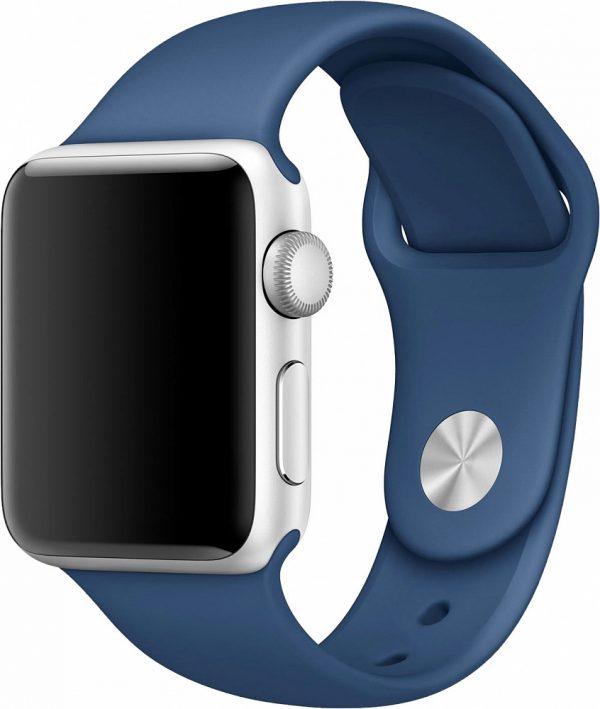 Ремешок для Apple Watch 38/40мм, силикон, синий океан