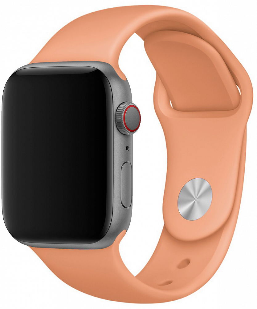 Набор силиконовых ремешков для Apple Watch 38 мм, персиковый