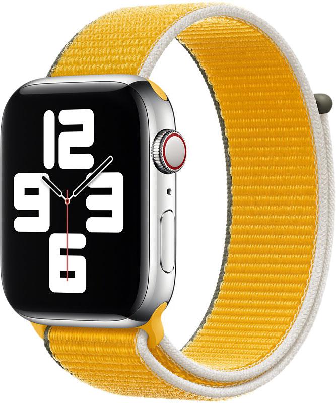 Спортивный браслет для Watch 44 мм, ярко-жёлтый