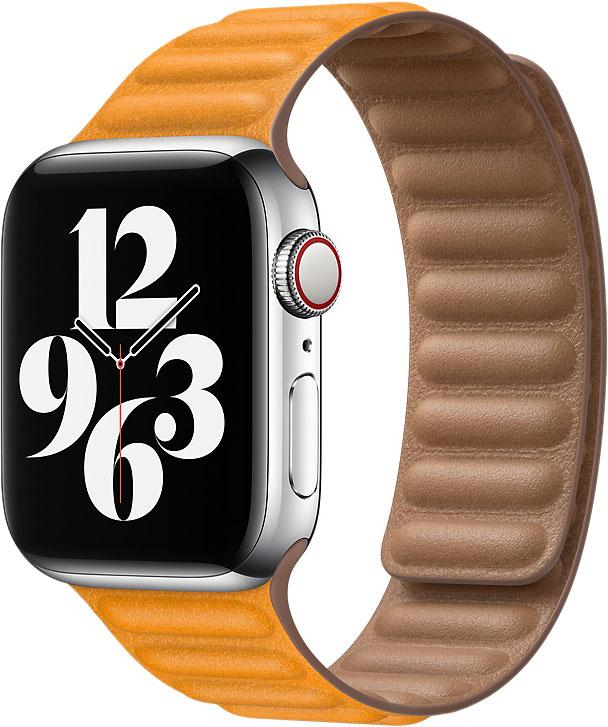 Кожаный браслет Watch 44 мм, размер S/M, «золотой апельсин»