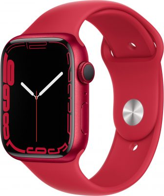 Watch Series 7, 45 мм, красного цвета, ремешок (PRODUCT)RED