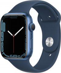 Watch Series 7, 45 мм, синего цвета, ремешок «синий омут»