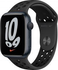Watch Nike Series 7, 45 мм, «тёмная ночь», ремешок Nike «антрацитовый/чёрный»