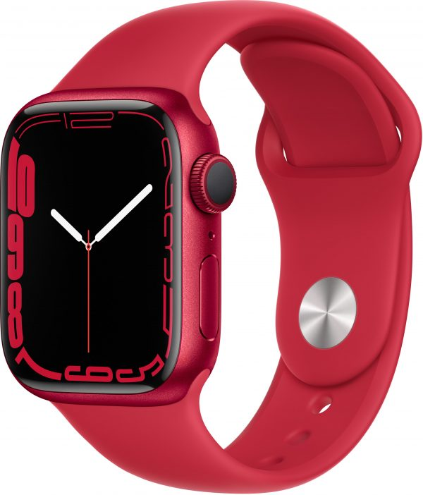 Watch Series 7, 41 мм, красного цвета, ремешок (PRODUCT)RED