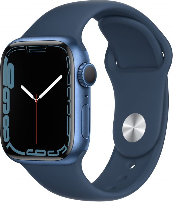 Watch Series 7, 41 мм, синего цвета, ремешок «синий омут»