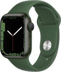 Watch Series 7, 41 мм, зеленого цвета, ремешок «зелёный клевер»