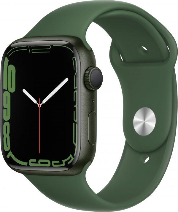 Watch Series 7, 45 мм, зеленого цвета, ремешок «зелёный клевер»